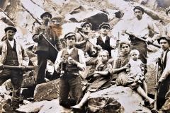 dělníci v kamenolomu 1934