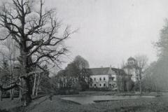 zámek v Cholticích a rybník Zrcadlo rok cca 1900